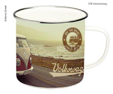 tasse a cafe emaillee south vintage vw collection. Black Bedroom Furniture Sets. Home Design Ideas