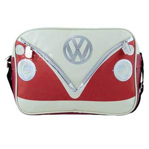 BESACE SAC BANDOUILLERE VW COLLECTION COLORIS ROUGE/CREME