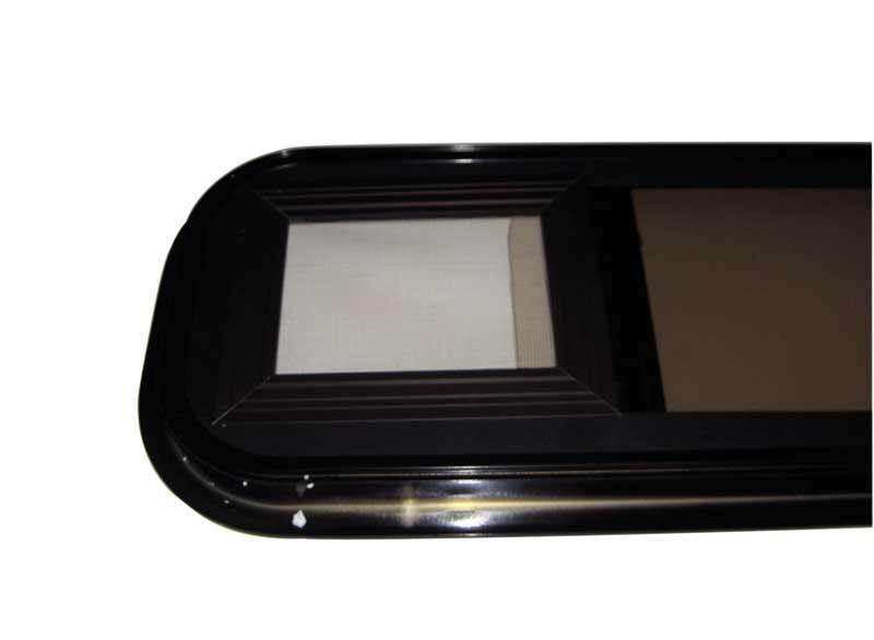 fenetre coulissante verre securit noire 1000 x 500 mm. Black Bedroom Furniture Sets. Home Design Ideas