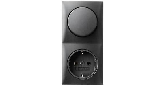 interrupteur a bascule simple berker integro anthracite. Black Bedroom Furniture Sets. Home Design Ideas
