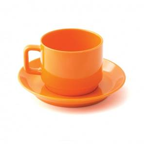TASSE A CAFE MELAMINE PLASTOREX - ORANGE