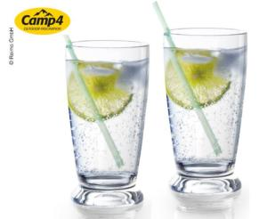 LOT DE 2 VERRES A EAU EMPILABLES CAPRI 30CL