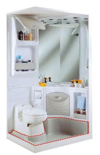 bac a douche bloc sanitaire 2000. Black Bedroom Furniture Sets. Home Design Ideas