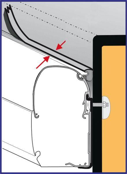 joint anti pluie fiamma rain guard s largeur au m tre. Black Bedroom Furniture Sets. Home Design Ideas