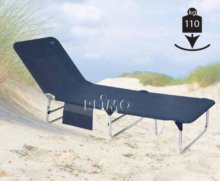 lit de plage bas bleu crespo 200 x 70 x 27cm. Black Bedroom Furniture Sets. Home Design Ideas