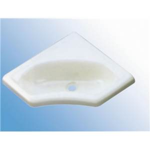 MINI LAVABO D' ANGLE ENCASTRABLE BLANC EN PST 345 x 345 x 116 MM