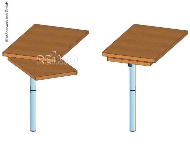 Pied table a platine rotative 701cm - Pied de table telescopique pour camping car ...