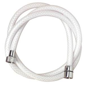FLEXIBLE DE DOUCHE NYLON TRESSE BLANC 2.5m - 1/2' X 1/2'