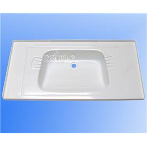 LAVABO ENCASTRABLE BLANC EN ABS 800 x 400 x 120 MM