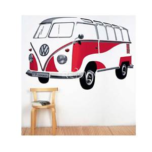 STICKER MURAL VW SAMBA 180X120cm