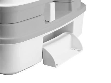 wc chimique porta potti qube 335 blanc avec kit maintien au sol. Black Bedroom Furniture Sets. Home Design Ideas