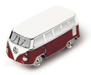 MAGNET AIMANT VW T1 3D ROUGE METAL - VW COLLECTION