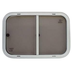 Fenetre coulissante verre securit blanche 700 x 350 mm for Fenetre verre securit
