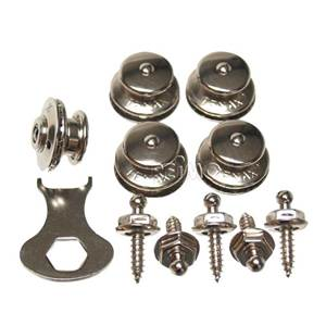 KIT BOUTONS TENAX ARGENTES 5 PIECES