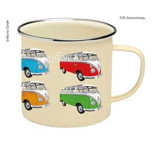 TASSE A CAFE EMAILLEE BEIGE - VW COLLECTION