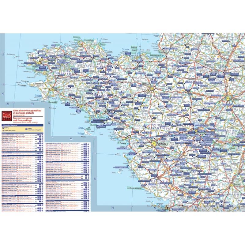 Carte France Des Aires Et Parkings Gratuits Trailer S Park