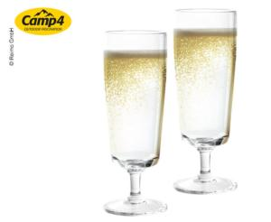 LOT DE 2 VERRES A CHAMPAGNE EMPILABLES CAPRI 20CL