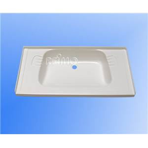 LAVABO ENCASTRABLE BLANC EN ABS 650 x 340 x 120 MM