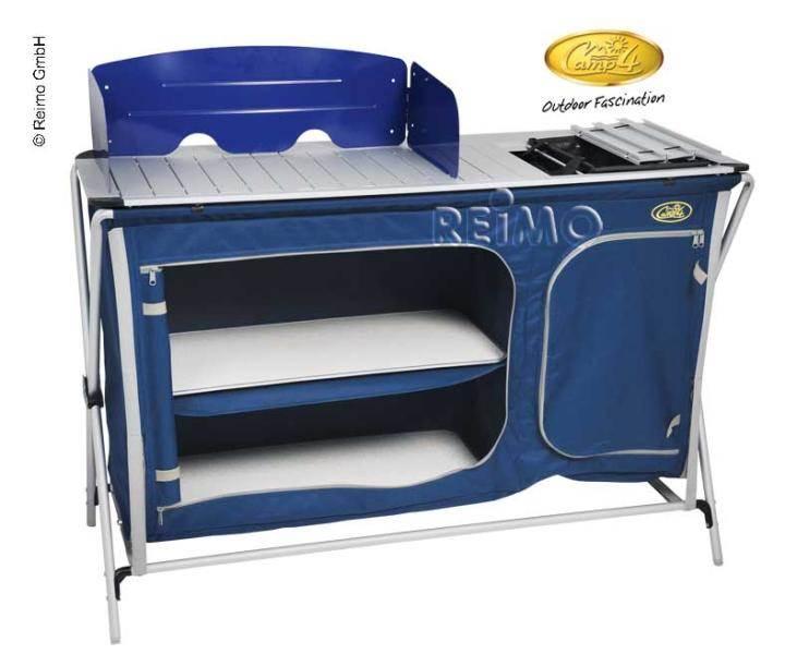 Cuccina Quick Cuisine De Camping Aluminium Avec Evier 124x48cm