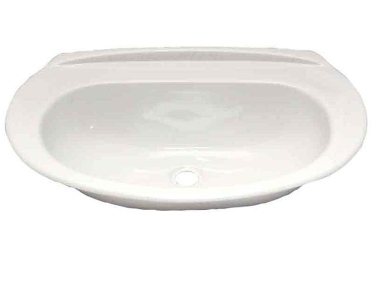 Lavabo Oval Encastrable Blanc En Abs 500 X 330 X 110 Mm