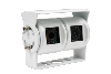 "CAMERA DE RECUL ""ANTARION"" DOUBLE OPTIQUE INOX BLANC"