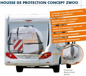 HOUSSE DE PROTECTION INTEGRALE 3 VELOS CONCEPT ZWOO HINDERMANN