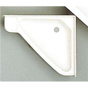LAVABO D'ANGLE ENCASTRABLE BLANC EN ABS 415 x 350 x 60 MM