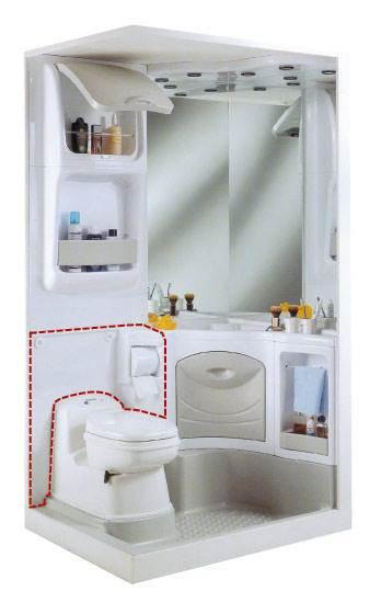 panneau arri re de wc pour bloc sanitaire 2000. Black Bedroom Furniture Sets. Home Design Ideas