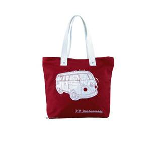 SAC SHOPPER CANVAS VW COLLECTION COLORIS ROUGE