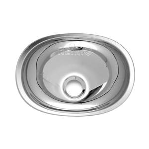 LAVABO ENCASTRABLE OVAL EN INOX 432X305 MM