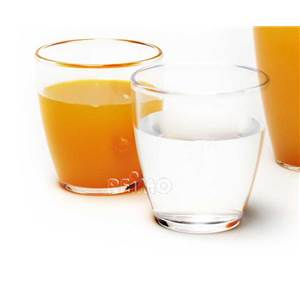 LOT DE 2 VERRES A JUS DE FRUIT 0.27 L