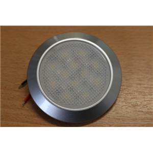 SPOT EN SAILLIE 12 LED + 3 LED bleue, sans interrupteur, 2.8 W, DIAM. 69mm
