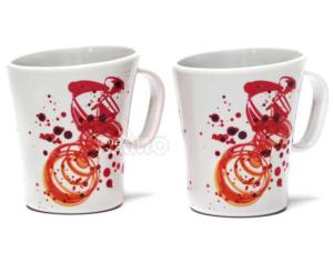 LOT DE 2 TASSES MELAMINES DECOR SIENA