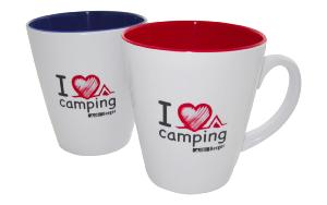 "TASSES 300ml ""I LOVE CAMPING"" x 2"