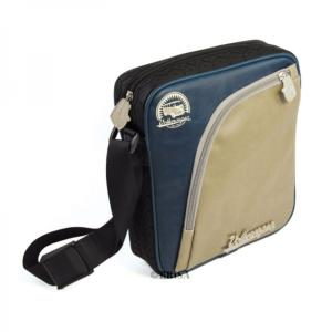 SAC POCHETTE BANDOUILLERE 23x17cm BLEU/GRIS - VW collection